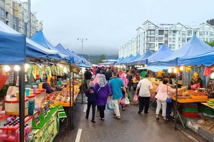 Pasar Malam Cameron Highlands Percutian Bajet